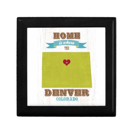 Mapa de Denver, Colorado - casero es donde está el Caja De Joyas