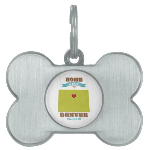 Mapa de Denver, Colorado - casero es donde está el Placa Mascota