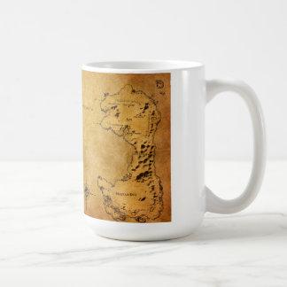 Mapa de Destin Taza De Café