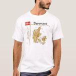Mapa de Dinamarca + Bandera + Camiseta del título