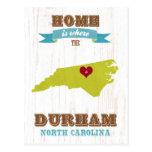 Mapa de Durham, Carolina del Norte - casero es don Postales
