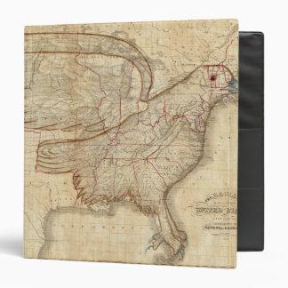 Mapa de Eagle de los Estados Unidos