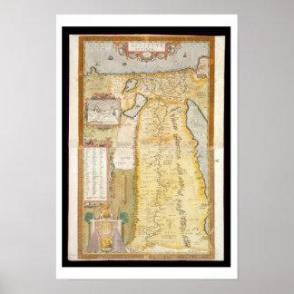 Mapa de Egipto antiguo, 1584 Posters