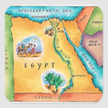 Mapa de Egipto Calcomania Cuadradas Personalizada