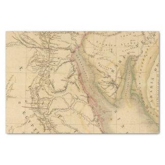 Mapa de Egipto, de Palestina y de Arabia Papel De Seda Pequeño