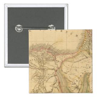 Mapa de Egipto, de Palestina y de Arabia Pin Cuadrada 5 Cm