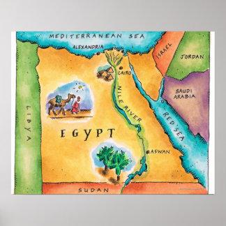Mapa de Egipto Impresiones