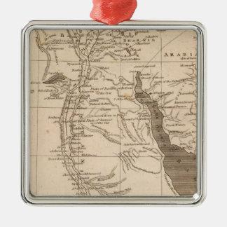 Mapa de Egipto por Arrowsmith Adorno Navideño Cuadrado De Metal