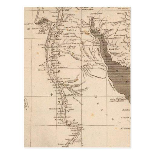 Mapa de Egipto por Arrowsmith Tarjeta Postal