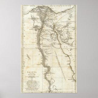 Mapa de Egipto Póster