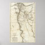 Mapa de Egipto Posters