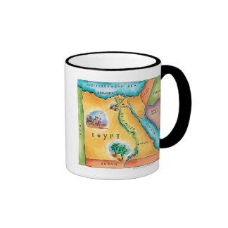 Mapa de Egipto Tazas De Café