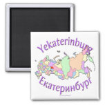 Mapa de Ekaterimburgo Rusia Imán Para Frigorífico