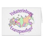 Mapa de Ekaterimburgo Rusia Tarjetas