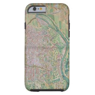 """Mapa de El Cairo, de """"Civitates Orbis Terrarum"""" Funda Para iPhone 6 Tough"""