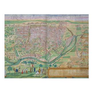 """Mapa de El Cairo, de """"Civitates Orbis Terrarum"""" Tarjetas Postales"""