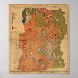 Mapa de encuesta sobre geológica el parque posters