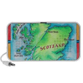 Mapa de Escocia Mp3 Altavoces