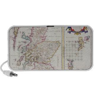 Mapa de Escocia, c.1700 Altavoces
