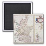 Mapa de Escocia, c.1700 Imanes