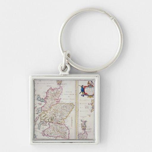 Mapa de Escocia, c.1700 Llaveros