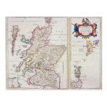 Mapa de Escocia, c.1700 Tarjetas Postales