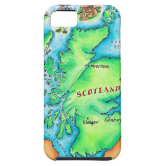 Mapa de Escocia iPhone 5 Case-Mate Funda