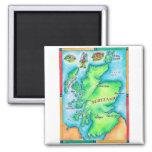 Mapa de Escocia Imanes