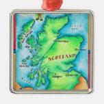 Mapa de Escocia Ornamentos De Reyes Magos