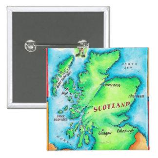 Mapa de Escocia Pins
