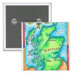 Mapa de Escocia Pin Cuadrada 5 Cm