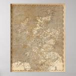 Mapa de Escocia por Arrowsmith Posters