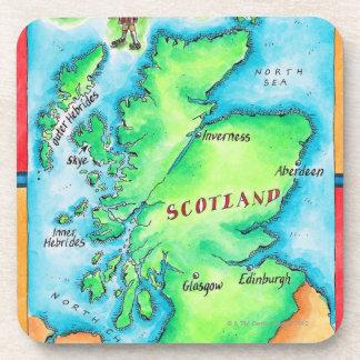 Mapa de Escocia Posavasos