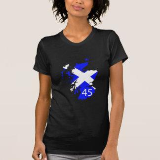 Mapa de Escocia Saltire Camisetas