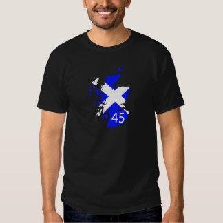 Mapa de Escocia Saltire Polera