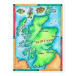Mapa de Escocia Tarjetas Postales