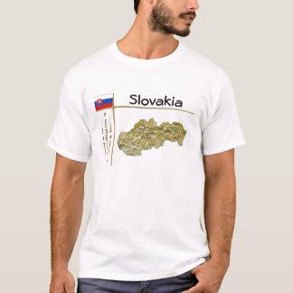Mapa de Eslovaquia + Bandera + Camiseta del título