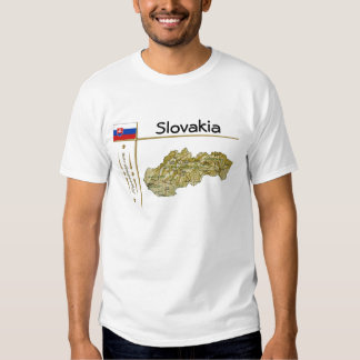 Mapa de Eslovaquia + Bandera + Camiseta del título Remeras