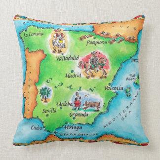 Mapa de España Cojín