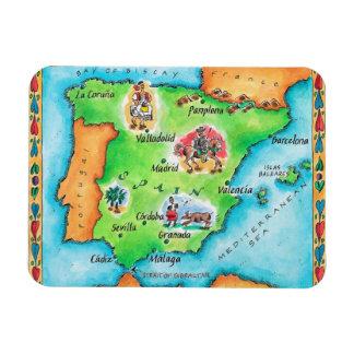 Mapa de España Imán Foto Rectangular