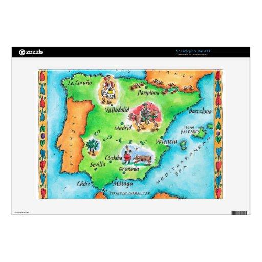 Mapa de España Portátil 38,1cm Skin