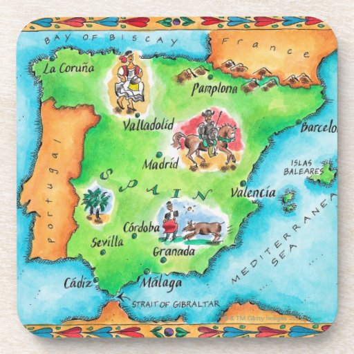 Mapa de España Posavasos De Bebidas
