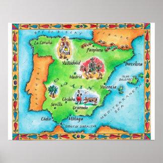 Mapa de España Póster