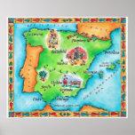 Mapa de España Poster