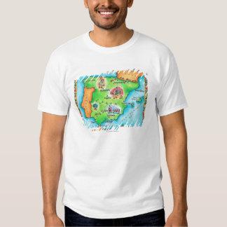 Mapa de España Remeras