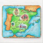 Mapa de España Tapetes De Ratón