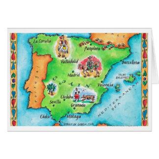 Mapa de España Tarjeta De Felicitación