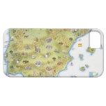 Mapa de España y de Portugal iPhone 5 Carcasas