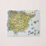 Mapa de España y de Portugal Rompecabezas Con Fotos