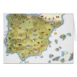 Mapa de España y de Portugal Tarjeta De Felicitación